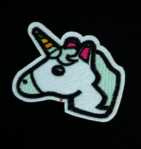 "Unicorn Head 2.5x2"" Embroidered Patch"