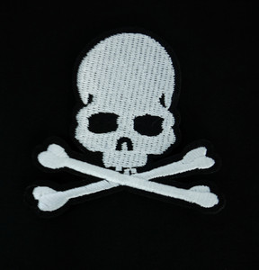"Cross Bones 3.25"" Embroidered Patch"