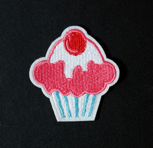 "Food - Cupcake 2x2.5"" Embroidered Patch"