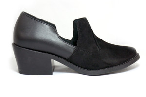 Mitu Brand Julia Black Leather Shoes with  Heels