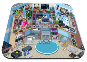"Gamer Room 9x7"" Mousepad"