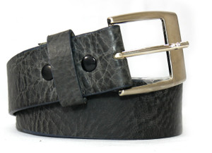 Greyish Black Leather Belt