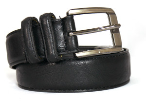 Secure Straps Black Leather Belt