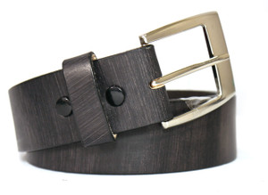 Rivet Brown Leather Belt