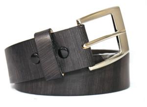 Rivet Brown Leather Belt