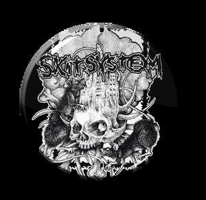 """Skitsystem - Skull and Rats 1"""" Pin"""
