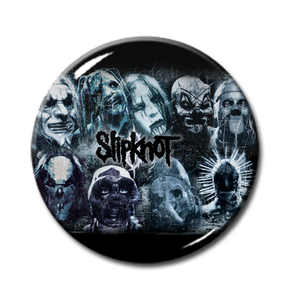 "Slipknot - Band Masks Promo Pic 1"" Pin"