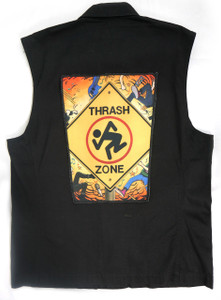 "Go Rocker - D.R.I - Thrash Zone 13.5"" x 10.5"" Color Backpatch"