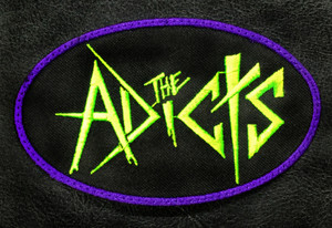 "The Adicts - Logo 4x2.5"" Embroidered Patch"
