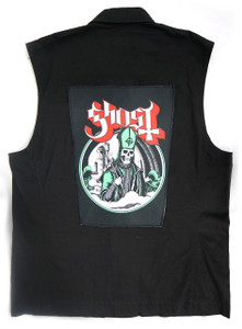 """Go Rocker - Ghost - Pope 13.5"""" x 10.5"""" Color Backpatch"""
