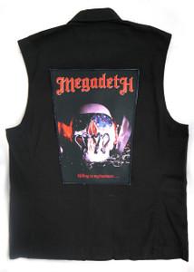 "Go Rocker - Megadeth - Killing Is My Business 13.5"" x 10.25"" Color Backpatch"