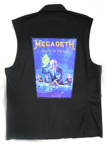 """Go Rocker - Megadeth - Rust in Peace 13.5"""" x 10.25"""" Color Backpatch"""