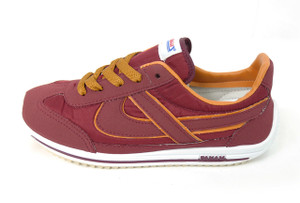 Panam - Burgundy and Orange Unisex Sneaker