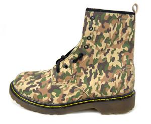 Panam - Camouflage Vegan Combat Boots