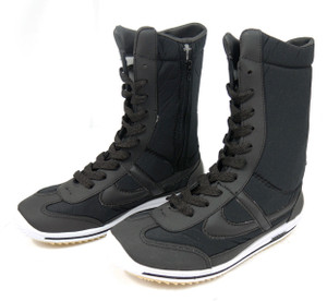 Panam - Black and Grey Unisex Boot Sneakers