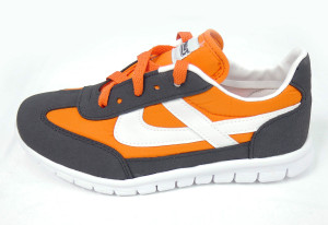 Panam - Black and Orange Crosstrainer Unisex Sneaker