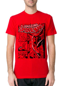The Amazing Spider-Man Comic Red T-Shirt