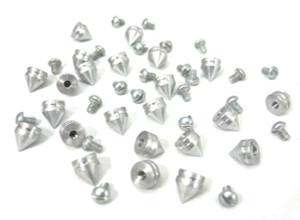 Tall Chrome Spike and Bolt 20 pieces