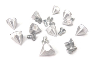 Hexagonal Chrome Spike and Bolt 10 pieces