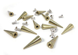 Rustic Gold Thin Spike and Bolt 20 pieces