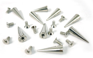 Chrome Thin Spike and Bolt 20 pieces