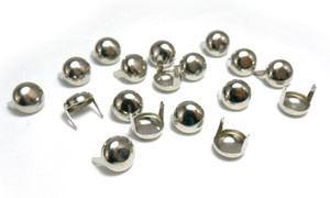 Small Circle Chrome Studs 100 pieces
