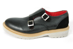 Zull - Vermont-12 Black Leather Monk Loafer