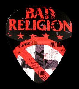Bad Religion - Paper Cross Standard Guitar Pick