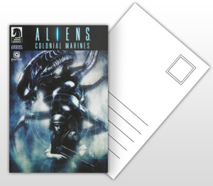 Aliens Colonial Marines Comic Cover Postal Card