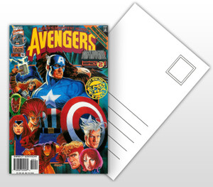 Avengers Onslaught Impact 2 Comic Cover Postal Card