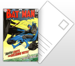 Batman Death Casts the Deciding Vote Comic Cover Postal Card