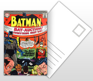 Batman The Day Batman Sold Out Comic Cover Postal Card