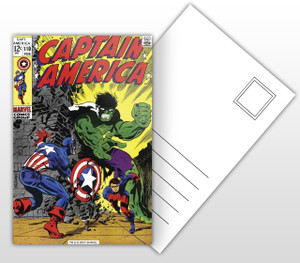 Captain America vs Hulk Comic Cover Postal Card