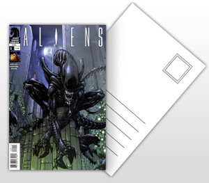 Aliens #1 Comic Cover Postal Card