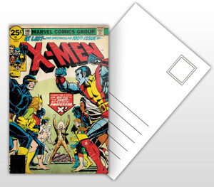 The Spectacular 100th Issue of X-Men Comic Cover Postal Card
