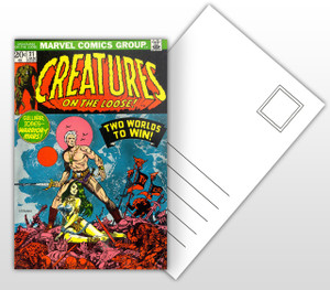 Creatures on the Loose! Comic Cover Postal Card