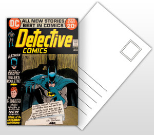 Batman Plays A Deadly Game of Killer's Roulette Comic Cover Postal Card