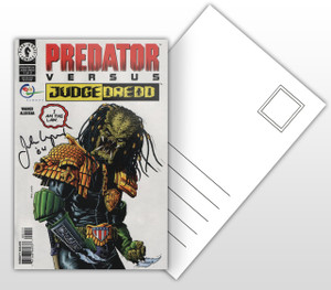 Predator Versus Judge Dredd Comic Cover Postal Card