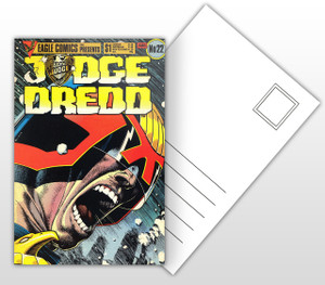 Judge Dredd #22 Comic Cover Postal Card