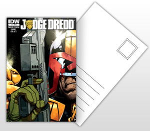 IDW Judge Dredd #1 Comic Cover Postal Card