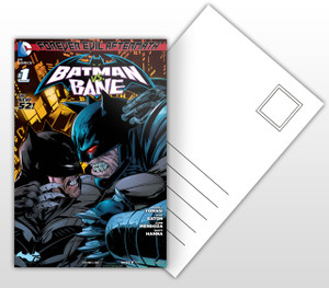 Forever Evil Aftermath Batman vs Bane Comic Cover Postal Card
