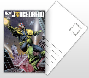 IDW Judge Dredd #1 Varient Comic Cover Postal Card