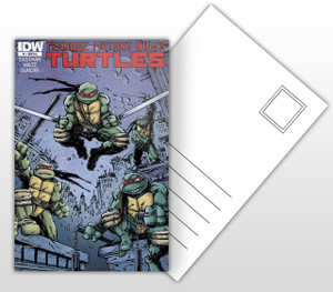 IDW Teenage Mutant Ninja Turtles #1 Varient Comic Cover Postal Card