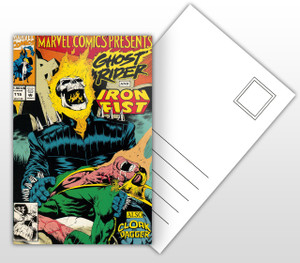 Marvel Presents Ghost Rider and Iron Fist Comic Cover Postal Card