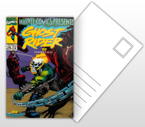 Marvel Presents Ghost Rider and The Masters of Silence Comic Cover Postal Card