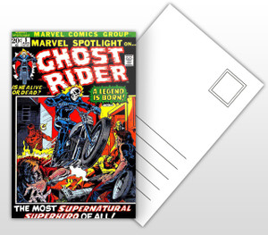 Marvel Spotlight on Ghost Rider A Legend is Born! Comic Cover Postal Card