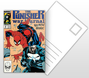 The Punisher War Journal Non-Mutant Mayhem! Comic Cover Postal Card