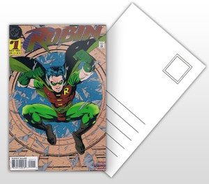 Robin #1 Comic Cover Postal Card
