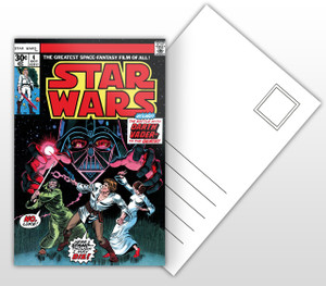 Star Wars The Battle With Darth Vader To The Death Comic Cover Postal Card