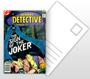 Batman's Detective Comics The Sign of the Joker Comic Cover Postal Card